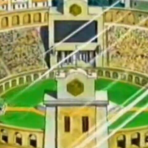 Das Stadion von innen