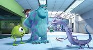 Mike, Sulley, Boo (Mary), and Randall