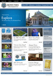 Webseite monsters university
