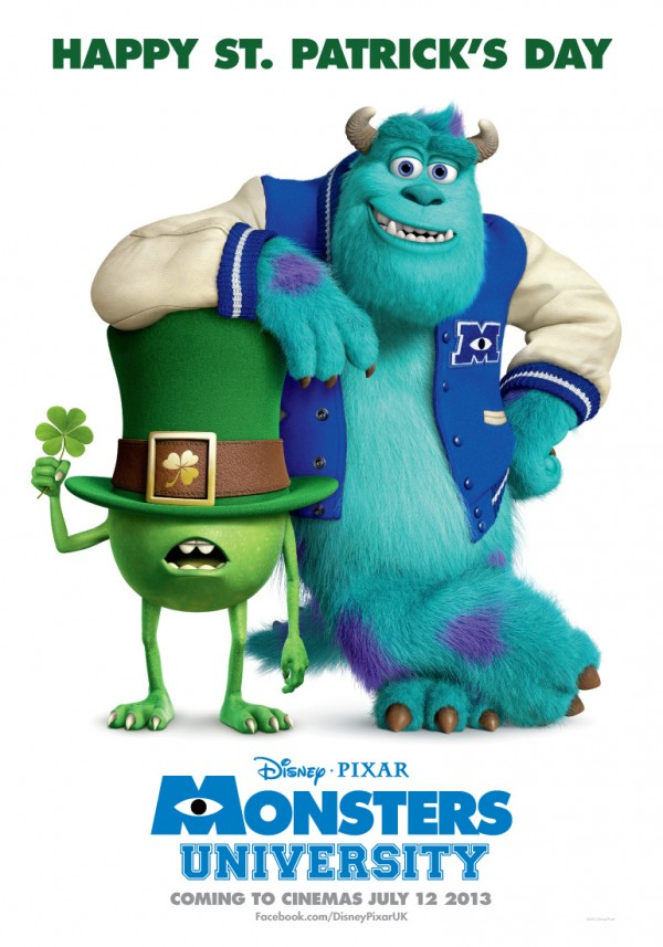 Image monsters university poster st patricks dayg monsters monsters university poster st patricks dayg voltagebd Gallery