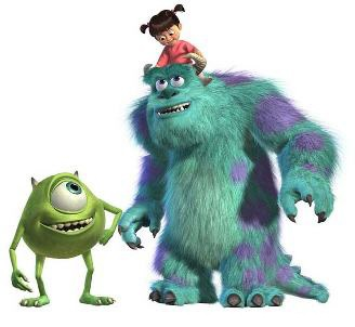 Monsters Inc Sulley Mike And Boo