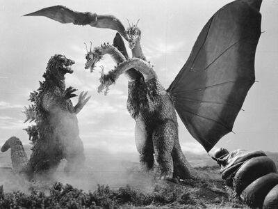 Godzilla kingghidorah mothralarva