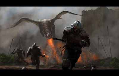 Dragon attack by AndreeWallin