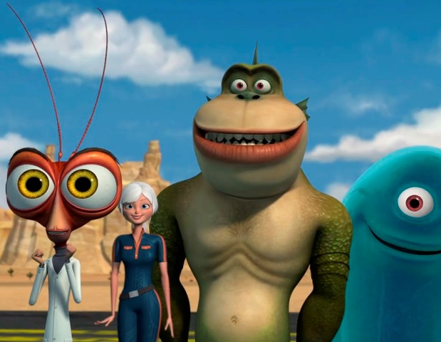 Monsters aliens walkthrough part wii ginormica level youtube