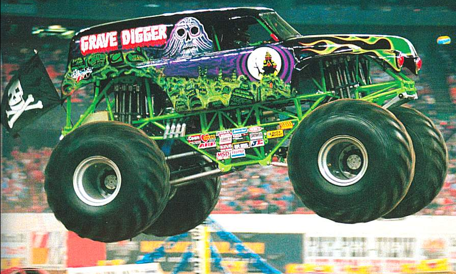 how to make grave digger monster truck cake