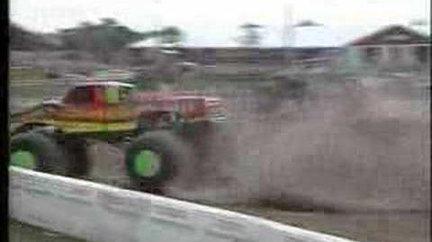 Monster Trucks- Snake Bite Crashes Into Shed