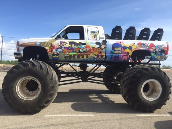 Image 51630999 123 Looney Tune Express Monster Truck Ride Jpg