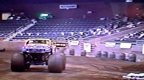Monster Truck Show from Redmond Oregon 2001. Racing and Freestyle.