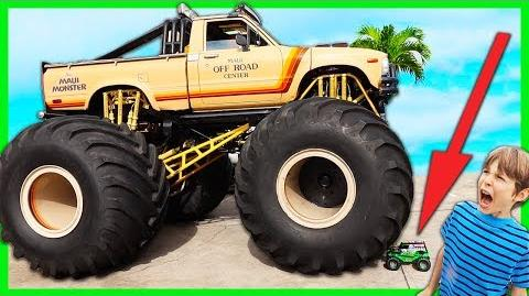 MAUI MONSTER TRUCK Vs RC GRAVE DIGGER New Spy Gadgets