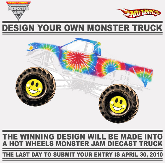 Hippie Was The Nickname Of A Fictional Truck Owned By FELD Motorsports It Only Used As Example In Hot Wheels Design Contest 2010