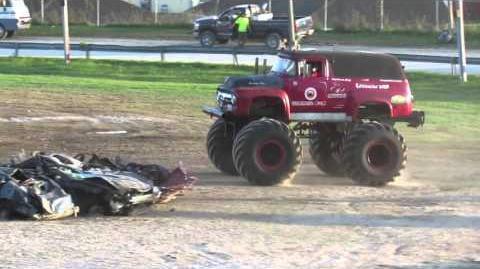 Red Truck Freestyle Old School Monster Truck 2015 Vermonster 4x4 in Rutland Vermont