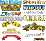 User blog:ToonRaiderStudios/Monster Truck Logos | Monster Trucks