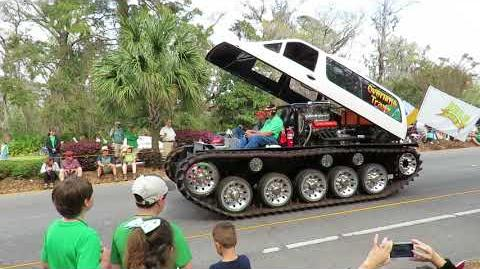 Freedom the Parrot & Overtime Traxx Monster Truck! St Patrick's Day Parade Hilton Head Island, SC