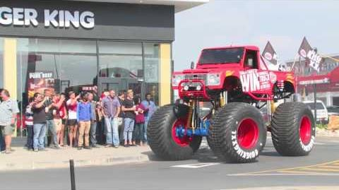 Monster trucks madness meets Burger King mouthwatering munchies