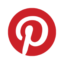 Pinterest badge red