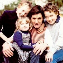 With his children Tom, Will, and Rachel