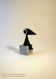 Crow man monument valley game figure by ddpatron-d7mxwir