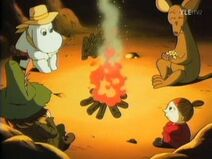 Moomintroll, Sniff, My and Snufkin in the Wild West