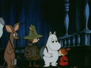 Moomin, Sniff, Little My and Snufkin