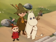 Moomintroll with Little My and Snufkin