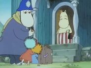 Moominmamma, Thingumy, Bob and the Police Inspector