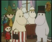 Moomin Family and Vampire in Fillyjonk's House