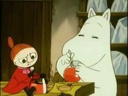 Little My and Moomintroll Eating Jam