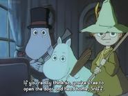 Moominpappa, Snufkin and Moomintroll