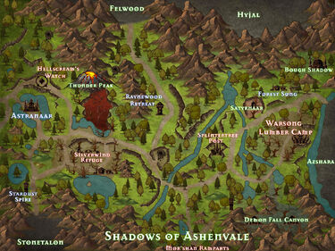 Shadows of Ashenvale Map