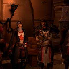 Nemond with friends Markus Quinn, Leon 'Manger' King and Lungen Lark.