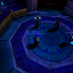 Aetyleus meeting with the Magus Senate Chancellor, Vice-Chancellor, and General.