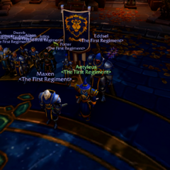 Grand Alliance Meeting in Proudmoore's Keep.