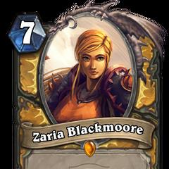A Zaria Hearthstone card.