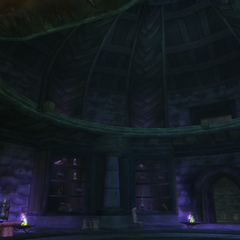 The libraries of Shadowfang, converted into a laboratory.
