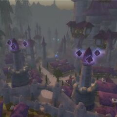 Dalaran from a farther perspective prior to the Third War.