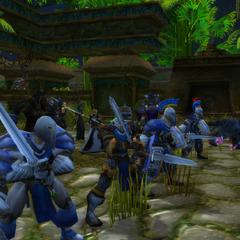 Fighting the Gurubashi Tribe alongside the Shadowdrum Tribe.
