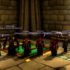 The Magus Senate at the Stormwind House of Nobles.