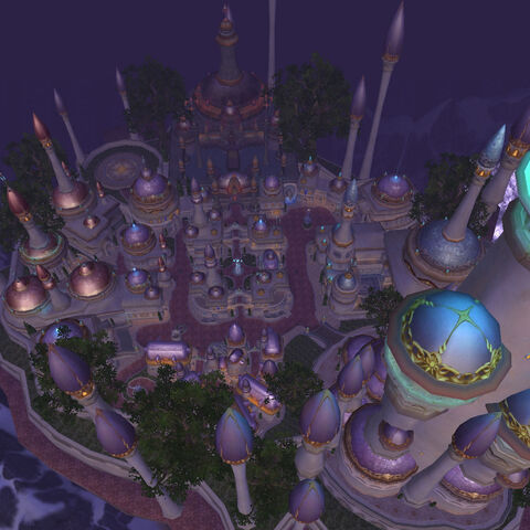 Dalaran above Northrend.
