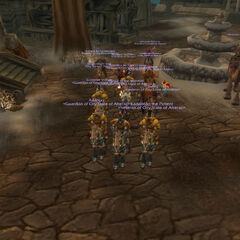 Alteraci marching to cleanse the bandits at Wolf's Cavern