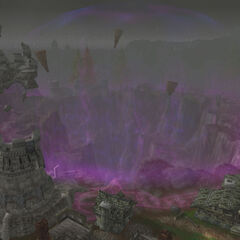 Dalaran crater after the city was moved.