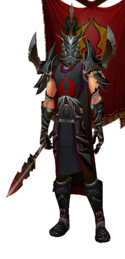 Arrodis - Dark Hand Set, Helm, with Banner (Table Image)