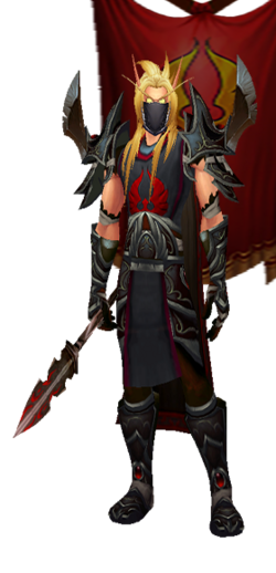 Arrodis - Dark Hand Set, Mask, with Banner (Table Image)