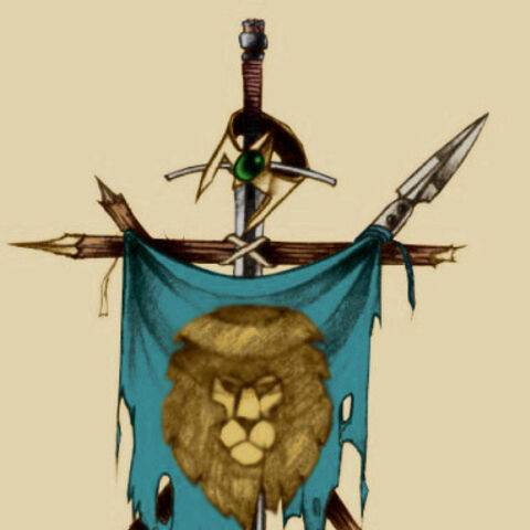 The flag of Stormwind during the time of the First War.