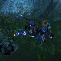 Fighting Worgen in Duskwood.
