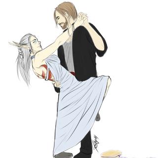 Aeriyth and Binor, by Neiyrah