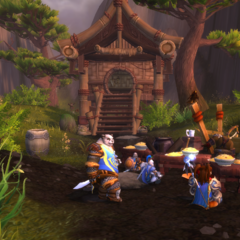 Feasting with the Sky Clan in Kun'Lai.