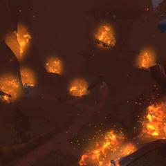 The Cenarion Enclave in flames.