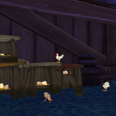 Can't have a Pandaren farm without a chicken coop! Fresh eggs, feathers and meat are in good supply.
