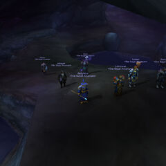 The Arcanum searching the caves of Dustwallow.