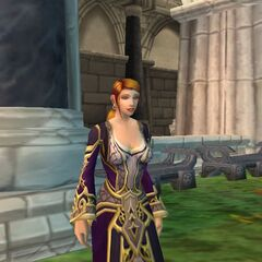 Enjoying a walk in the gardens at Stormwind Keep while serving as <a href=